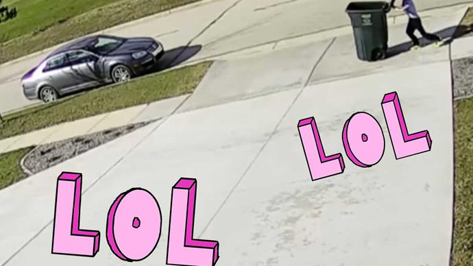 Viral video child taking out garbage can