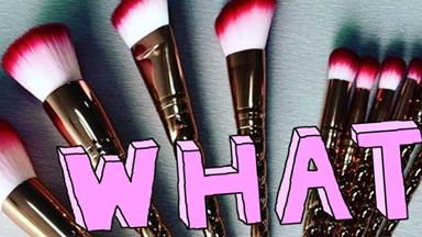 These rose gold unicorn makeup brushes are everything you need in your life