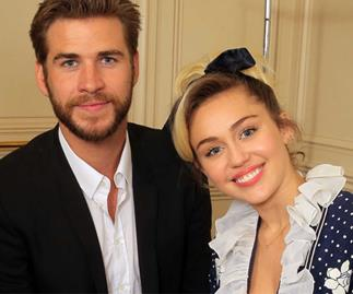 Liam Hemsworth and Miley Cyrus wear matching costumes