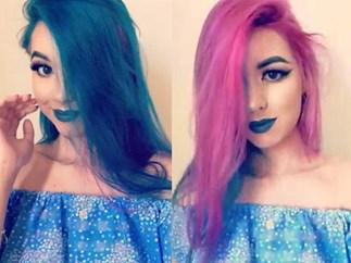 New rainbow hair trick called split dye