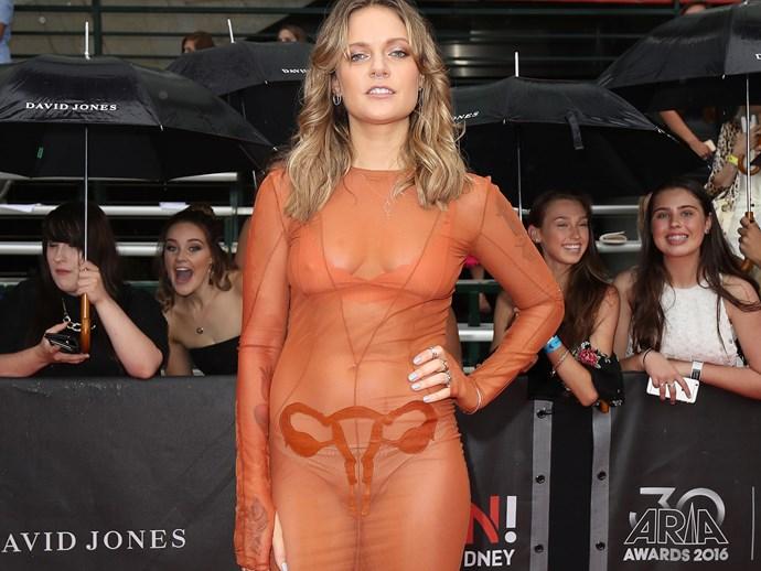 Tove Lo Ovaries Dress ARIAs Red Carpet