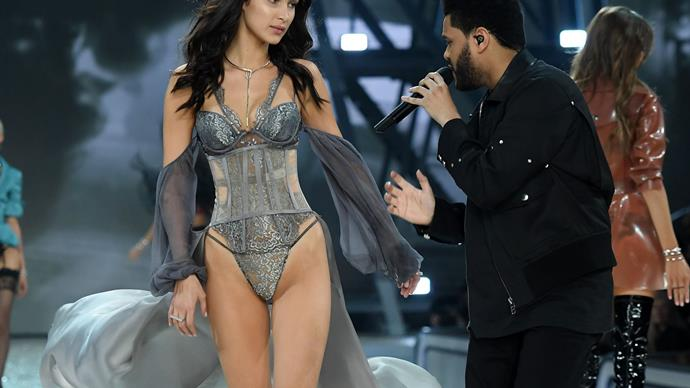 Bella Hadid on seeing The Weeknd at the Victoria's Secret show