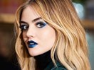 Lucy Hale has gone from blonde to JET black and holy smokes that's a huge difference