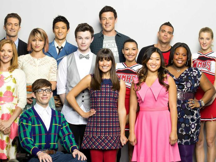 Glee stars all reunited at Becca Tobin's wedding