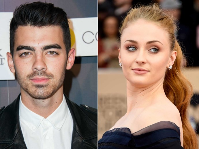 Sophie Turner kisses Joe Jonas in front of her family