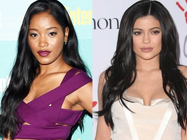 Keke Palmer posts a 'before & after' shot of Kylie Jenner and holy freaking moly drama is coming
