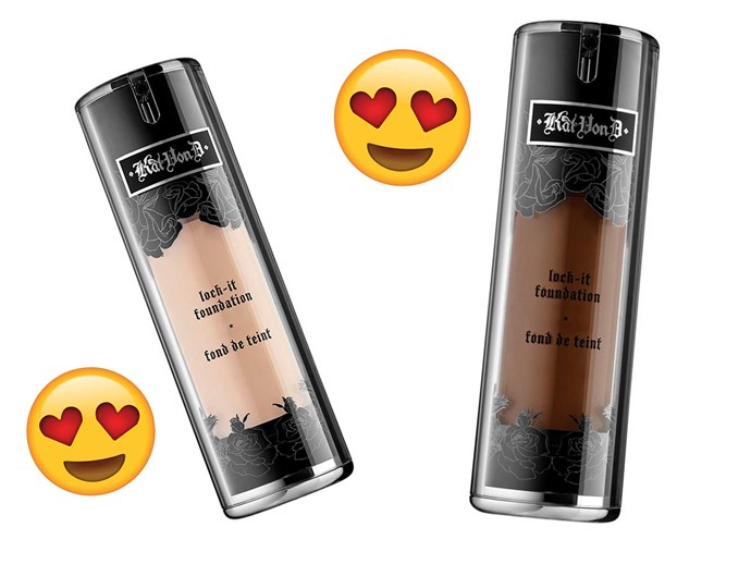 Kat Von D Lock It foundation is the best for coverage