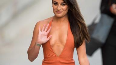 Ooooh Lea Michele caught kissing a man 23 years older than her