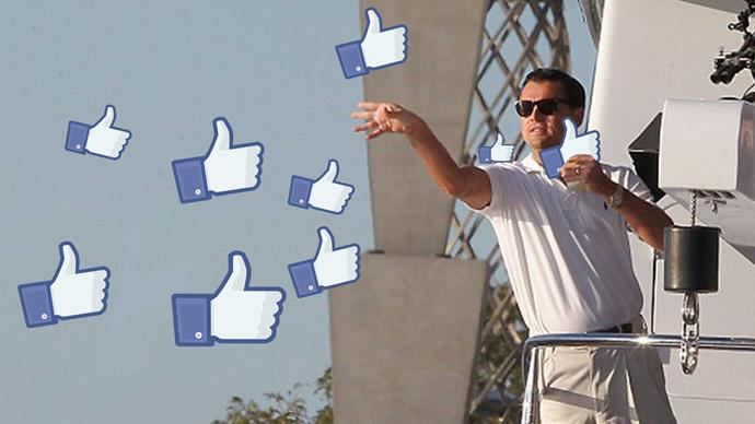 Facebook shows how many likes you give out in a year