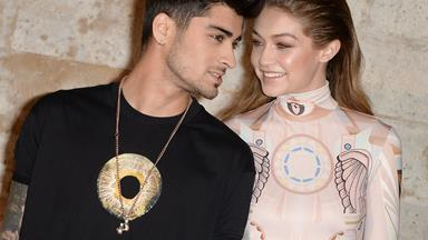 Zayn and Gigi get very *very* steamy as they record themselves kissing in a car