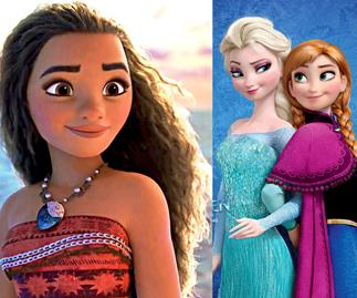 Frozen character shown in Disney's Moana