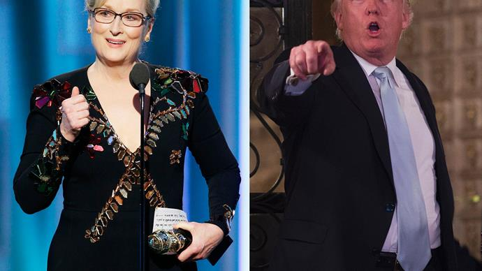 Celebrities support Meryl Streep after Trump drags her