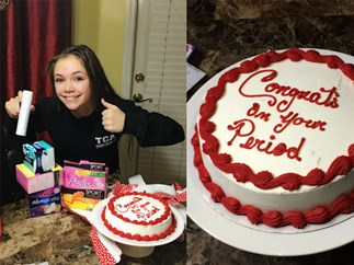 Girl's family throw period party for her