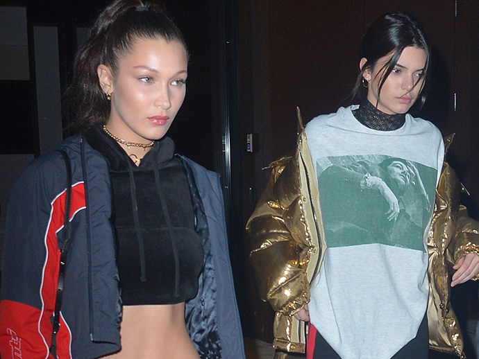 Kendall Jenner and Bella Hadid wore matching outfits in Paris