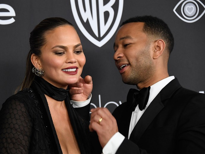 Chrissy Teigen defends John Legend being called a monkey