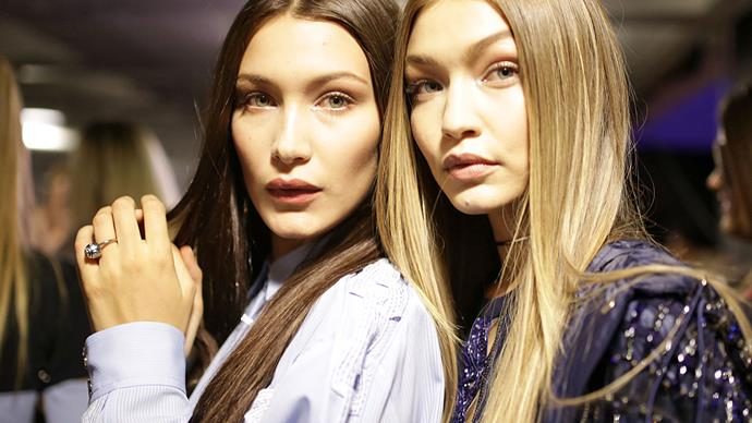 Gigi and Bella Hadid protest immigration ban in NYC