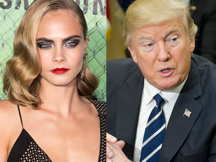 Cara Delevingne points out Mexican manufacturing on Trump's clothing line