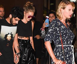 Taylor Swift and Gigi Hadid have THE best reaction to hearing 'IDWLF' on the radio