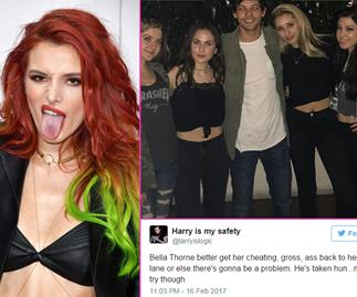 Bella Thorne receives death threats after Louis Tomlinson comment