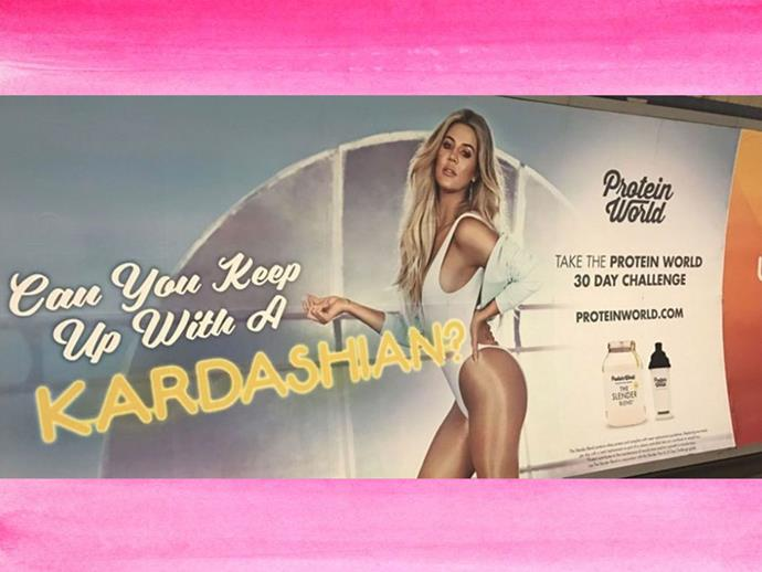 Khloe Kardashian body-shaming advertisement