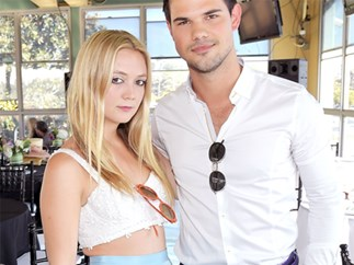 Billie Lourd and Taylor Lautner have officially gone public