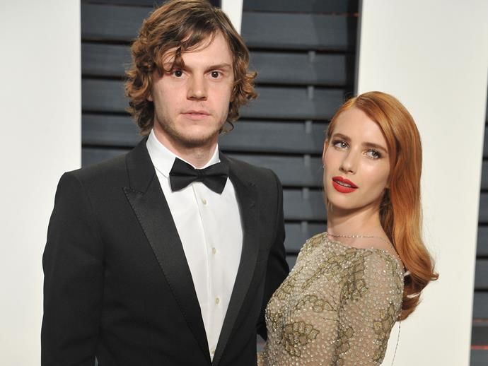 This is how Emma Roberts and Evan Peters spent The Oscars night