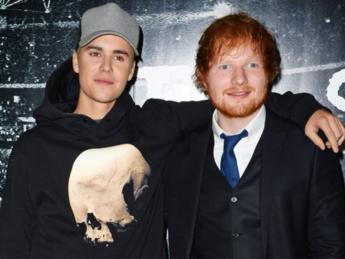 Ed Sheeran hit Justin Bieber in the face with a golf club