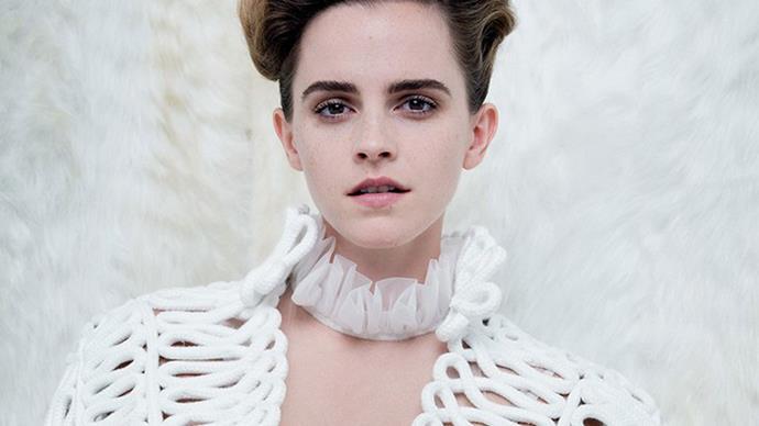 Emma Watson angers fans for posing semi-topless