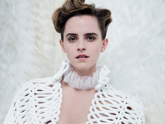 Emma Watson angers fans for posing semi-topless