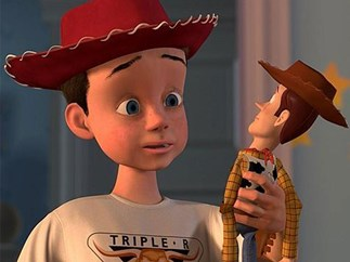Andy's face in Toy Story was used on every kid
