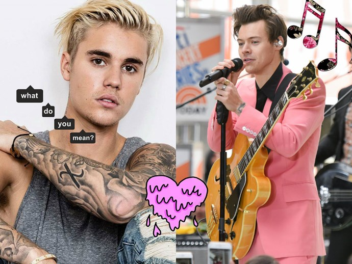 Justin Bieber fan girling over Harry Styles is what the world needs rn