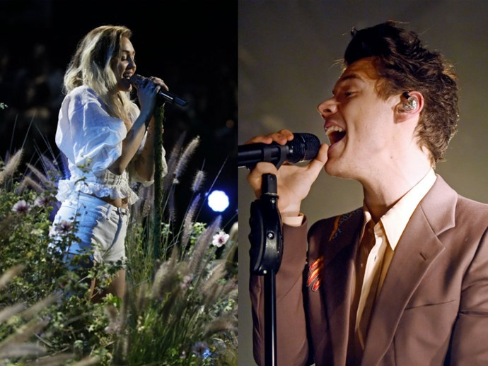 Miley Cyrus and Harry Styles dedicate performances to Manchester bombing victims