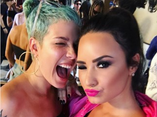 Halsey and Demi Lovato squash their beef with a super cute selfie