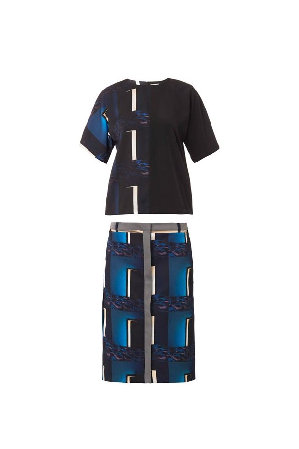 "Top, $456, Kenzo, <a href=""http://www.matchesfashion.com/product/204879"">matchesfashion</a> and skirt, $650, Kenzo, <a href=""http://www.matchesfashion.com/product/204807"">matchesfashion </a>"