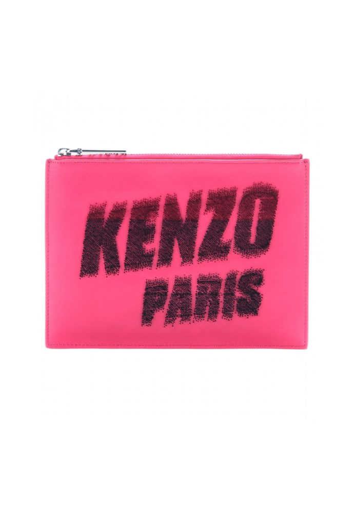 "Clutch, approx. $236, Kenzo, <a href=""http://www.mytheresa.com/en-de/leather-clutch-335620.html"">mytheresa.com</a>"