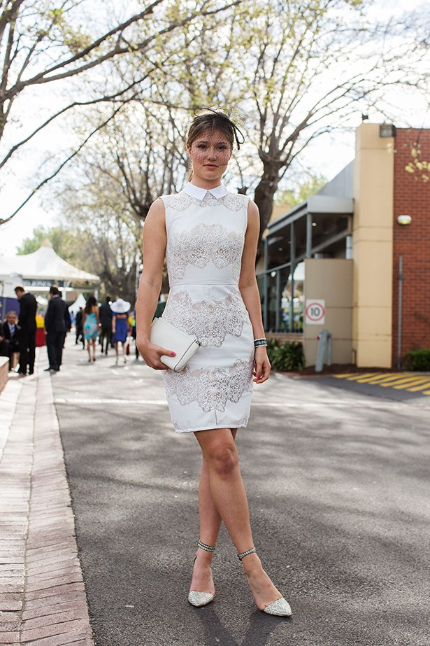 Alexandra Grylls at the Caulfield Guineas Day 2014 in Melbourne