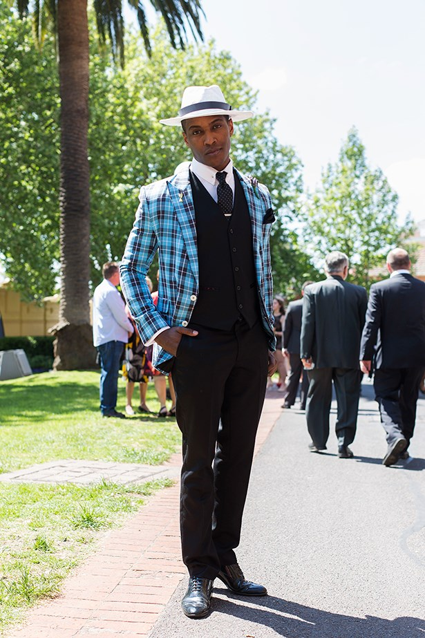 Chico Seaton at the Caulfield Guineas Day 2014 in Melbourne