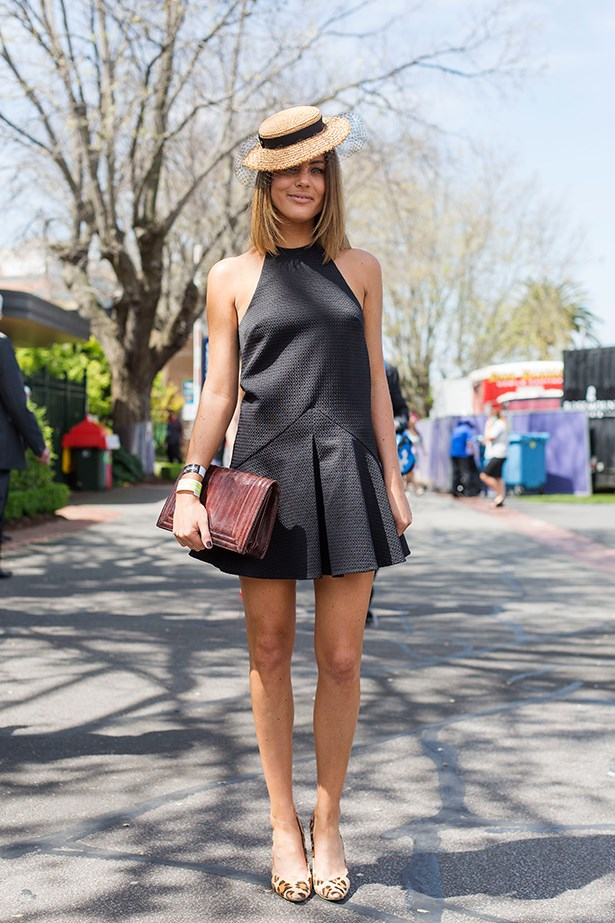 Clare Duffy at the Caulfield Guineas Day 2014 in Melbourne