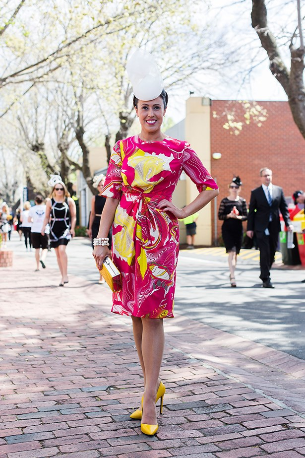 Em Bodinar at the Caulfield Guineas Day 2014 in Melbourne