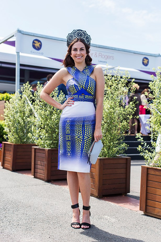 Lauren Brain at the Caulfield Cup 2014 in Melbourne