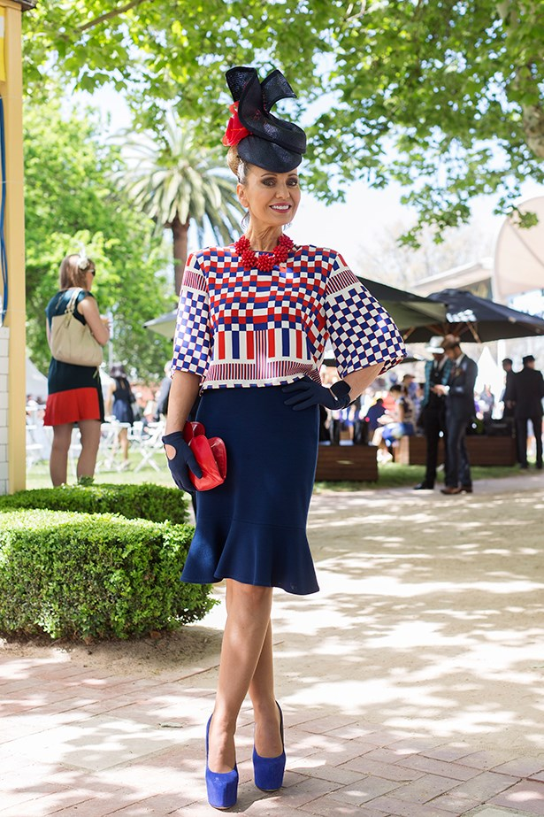 Lisa Wellings at the Caulfield Cup 2014 in Melbourne