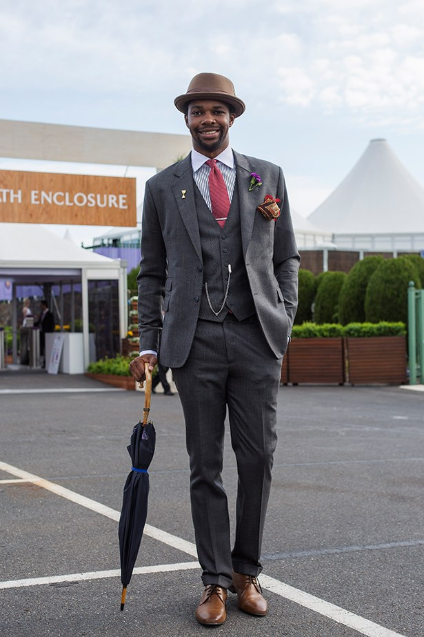 Thomas Banda at the Caulfield Guineas Day 2014 in Melbourne