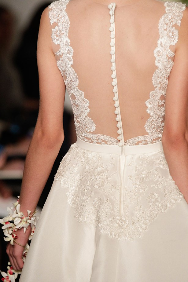 Dress details Bridal Fashion Week Autumn Winter 2015