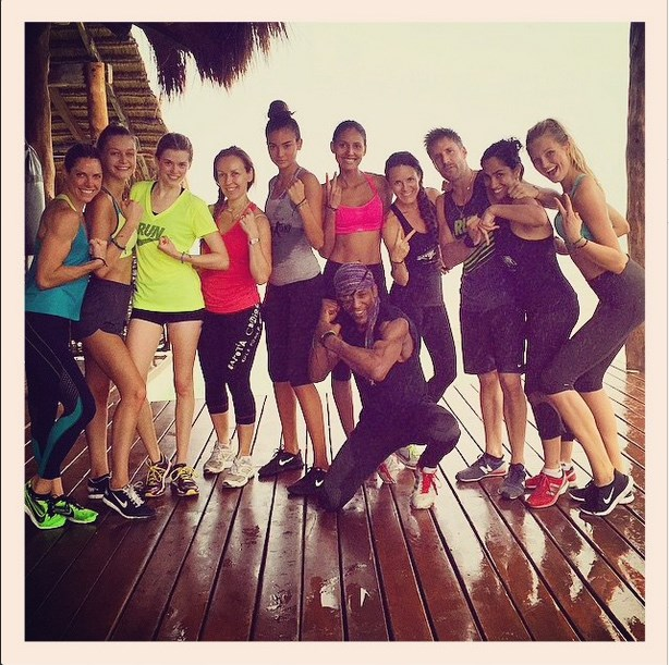 """Even after a 90 minute sweat session, this model crew still looked smokin'. #notnormal <br><br> Image courtesy of @emanueladepaula via <a href=""""http://instagram.com/p/t-0nTgpcIa/?modal=true"""">Instagram </a>"""