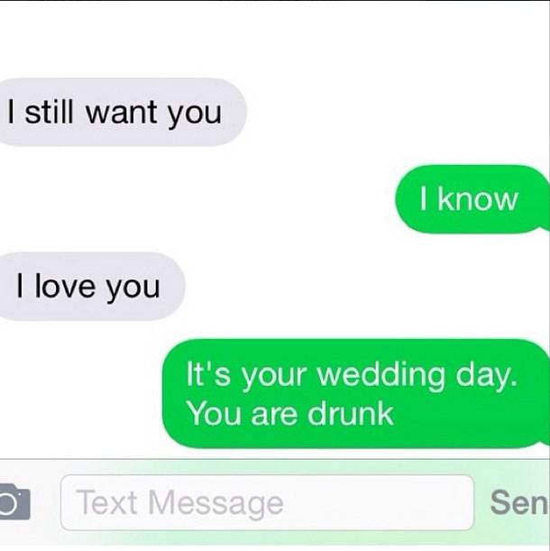 Wedding day fail.