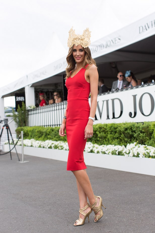 <strong>Rebecca Judd</strong> at the 2014 <strong>Caulfield Cup</strong> in Melbourne