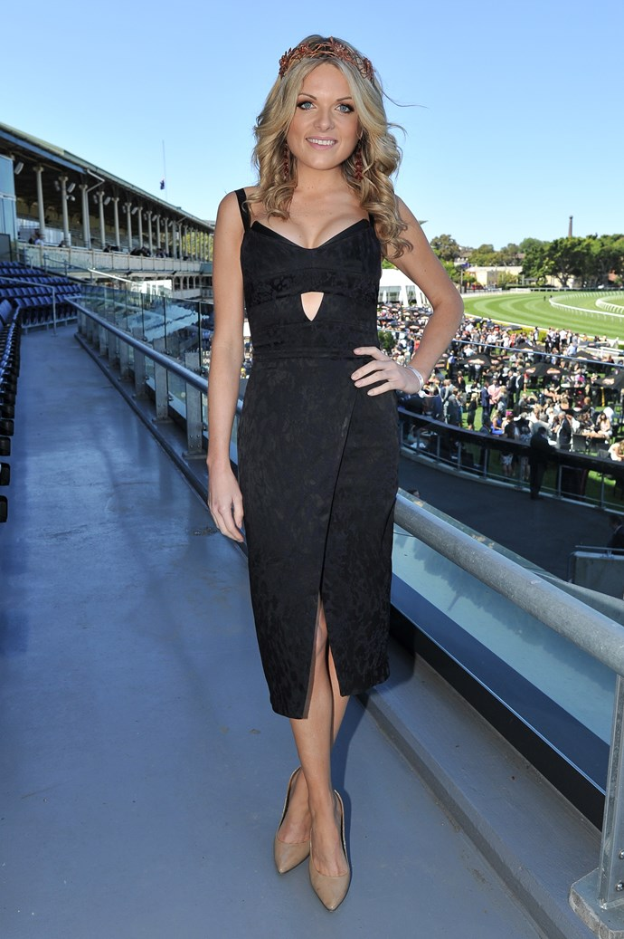 Erin Molan at the Sydney Tattersall's Club Cup Day