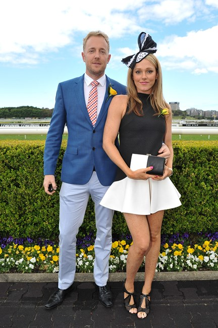 Matt Sutherland and Holly Turner at the Sydney Tattersall's Club Cup Day