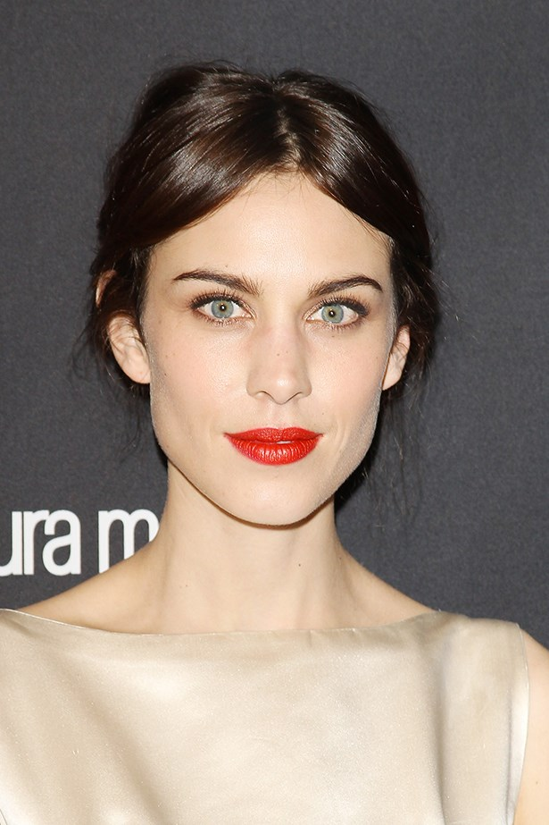 """<strong> Red lipstick </strong> <br><br> Channel Alexa Chung by wearing a bright red lipstick, which she says takes attention away from tired eyes. Just swipe on mascara and you're good to go; no fuss necessary. <br><br> Try Lady Danger, $36, MAC, <a href=""""http://www.maccosmetics.com.au/"""">maccosmetics.com.au </a>"""