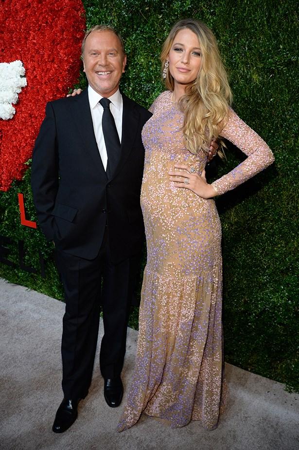 Blake Lively and designer Michael Kors at the God's Love We Deliver  Awards